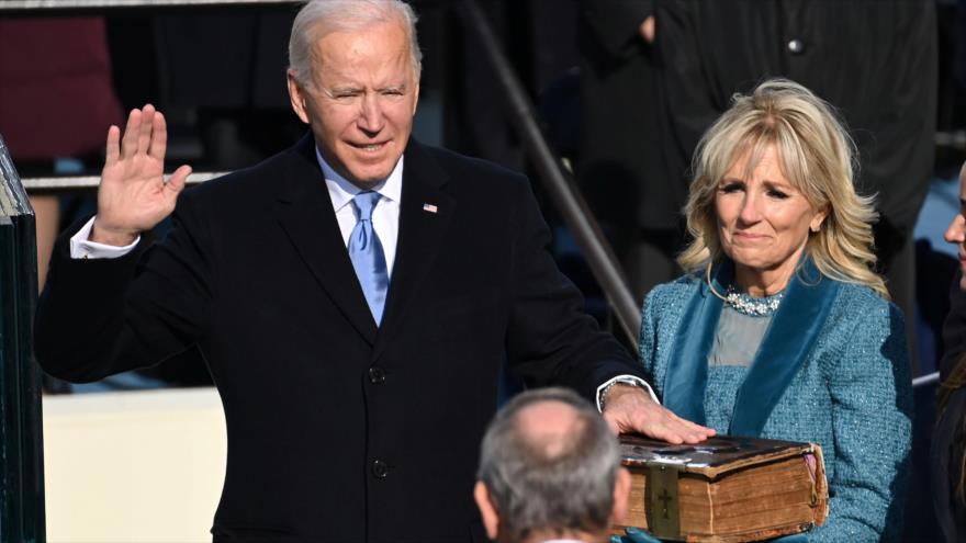 Juramento de Biden. Anormal investidura en EEUU. Fracaso de EEUU - Noticias Exprés: 19:30 - 20/01/2020