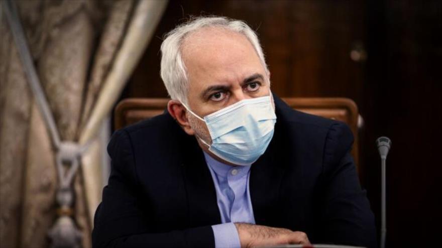 El canciller iraní Mohamad Yavad Zarif en una reunión dubernamental, realizada en Teherán, la capital persa, 11 de mayo de 2020. (Foto: IRNA)