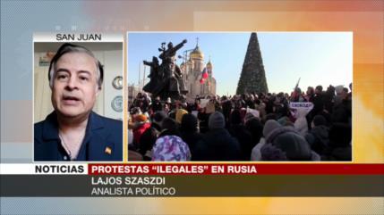 Szaszdi: EEUU apoya a oposición rusa y acusa a Moscú de injerencia