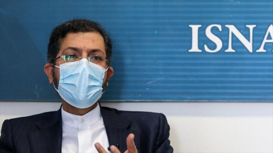 El portavoz de la Cancillería iraní, Said Jatibzade, en una entrevista con ISNA, 23 de enero de 2021.