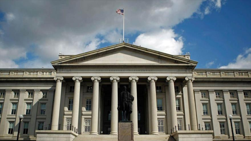 La sede del Departamento del Tesoro de EE.UU. en Washington DC., la capital.