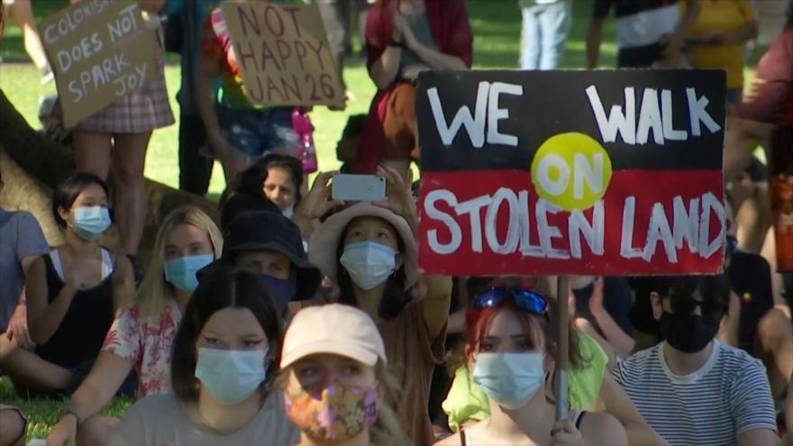 Los australianos protestan contra el Día Nacional pese a COVID-19