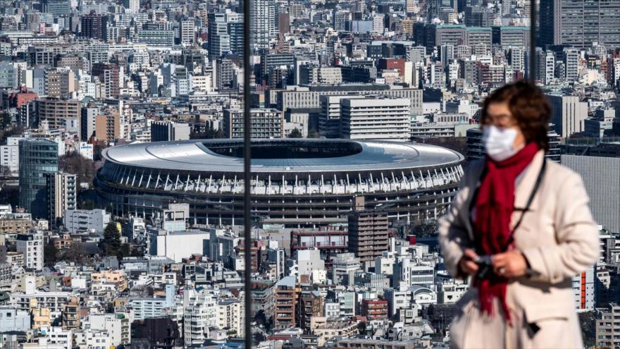 El Estadio Nacional (al fondo), la sede principal de los Juegos Olímpicos y Paralímpicos de Tokio 2020, 19 de enero de 2021. (Foto: AFP)