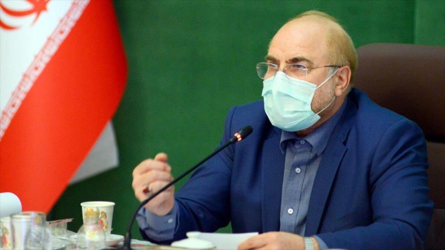 El presidente de la Asamblea Consultiva Islámica de Irán (Mayles), Mohamad Baqer Qalibaf.