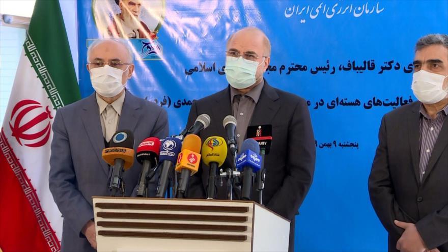 Presidente de Parlamento iraní visita planta nuclear de Fordo