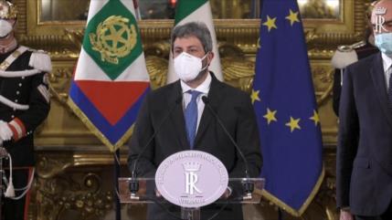 Presidente de Parlamento buscará sacar a Italia de crisis política