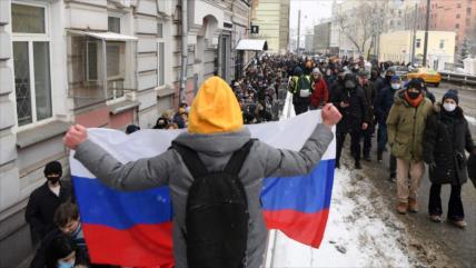 Moscú a EEUU: Deja de incitar marchas en Rusia por redes sociales