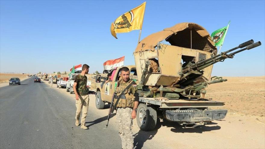 Combatientes de las Al-Hashad Al-Shabi en la provincia iraquí de Nínive. (Foto: Reuters)