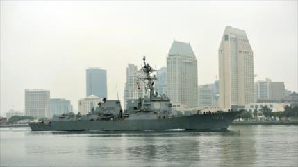 Nuevos casos de COVID-19 en destructor de misiles guiados de EEUU
