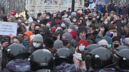 Kremlin condena actos provocativos e ilegales en apoyo a Navalni