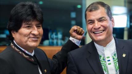Morales y Correa: Recuperamos la Unasur en elecciones en Ecuador