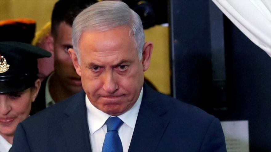 El primer ministro israelí, Benjamín Netanyahu, en un acto en Al-Quds (Jerusalén), 1 de septiembre de 2019. (Foto: Reuters)