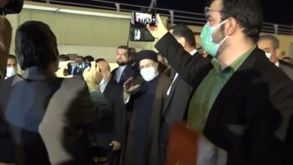 Iraquíes dan calurosa bienvenida al jefe del Poder Judicial de Irán
