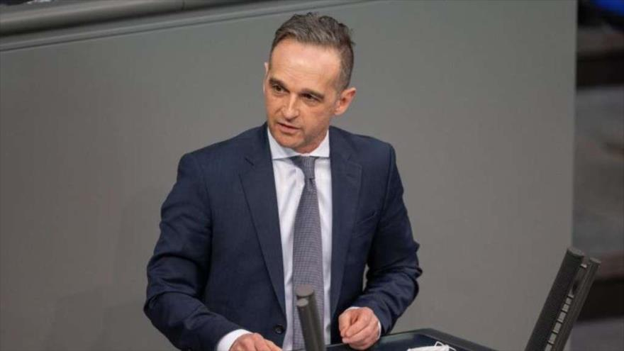 El ministro de Asuntos Exteriores de Alemania, Heiko Maas, durante su intervención ante el Parlamento germano (Bundestag), 10 de febrero de 2020.