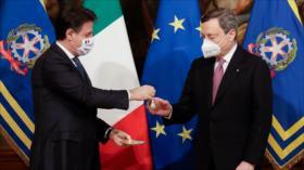 Mario Draghi jura su cargo como nuevo premier de Italia