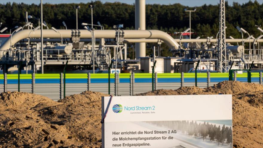 Una instalación del gasoducto Nord Stream 2 en Lubmin, noreste de Alemania, 7 de septiembre de 2020. (Foto: AFP)