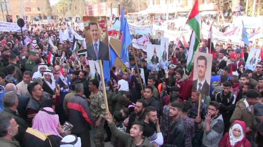 Sirios piden a Bashar Al-Asad repostularse a presidenciales | HISPANTV