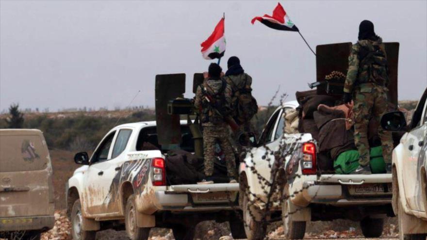 Soldados del Ejército sirio en la provincia occidental de Alepo, 16 de febrero de 2020. (Foto: Reuters)