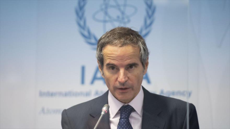 El director general de la AIEA, Rafael Grossi, en una rueda de prensa en Viena (Austria), 18 de noviembre de 2020. (Foto: AFP)