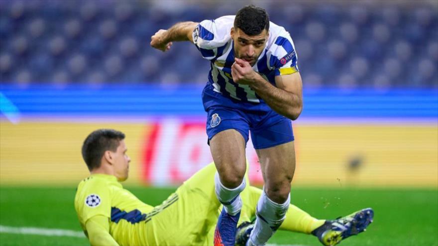 Vean el gol de Taremi, delantero iraní del Porto, a Juventus en 63''