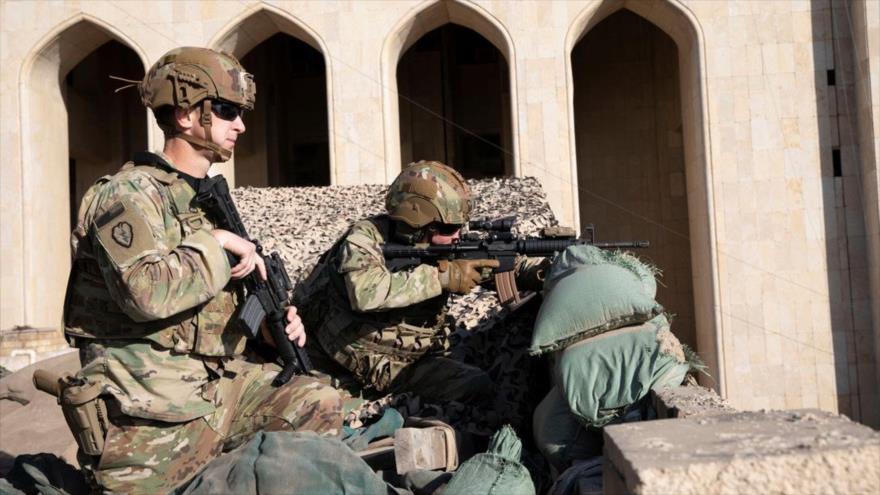 Soldados estadounidenses desplegados en Bagdad, capital iraquí, 31 de diciembre de 2019. (Foto: Reuters)