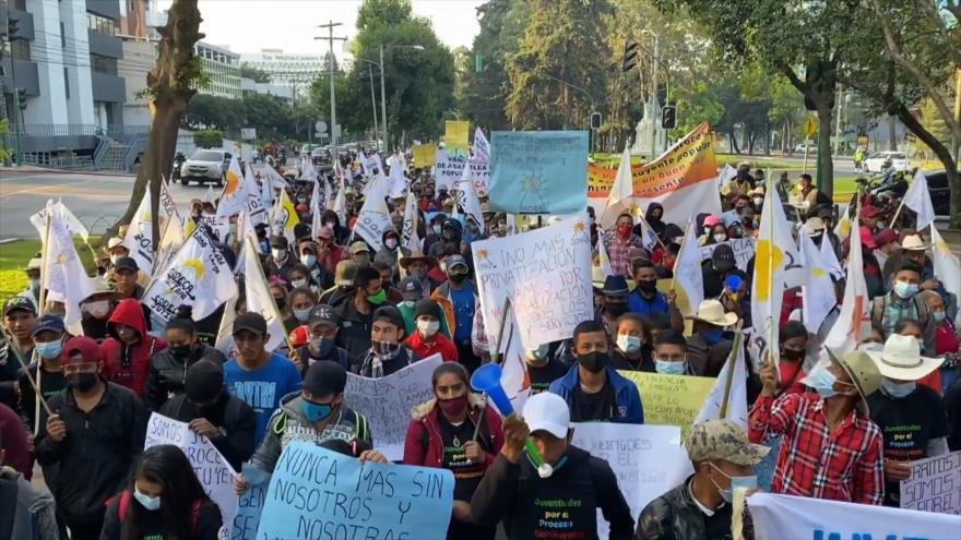 Indígenas de Guatemala protestan contra explotación de sus territorios