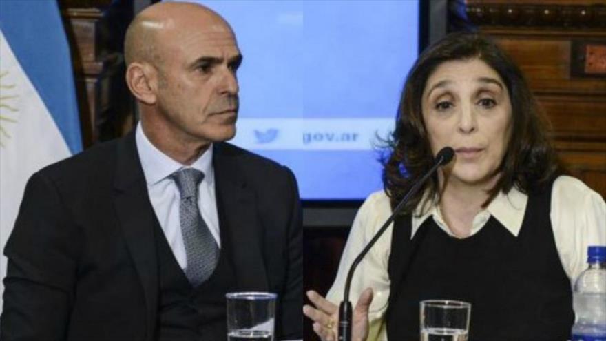 Los exdirectores de la Agencia Federal de Inteligencia (AFI) de Argentina Gustavo Arribas y Silvia Majdalani.
