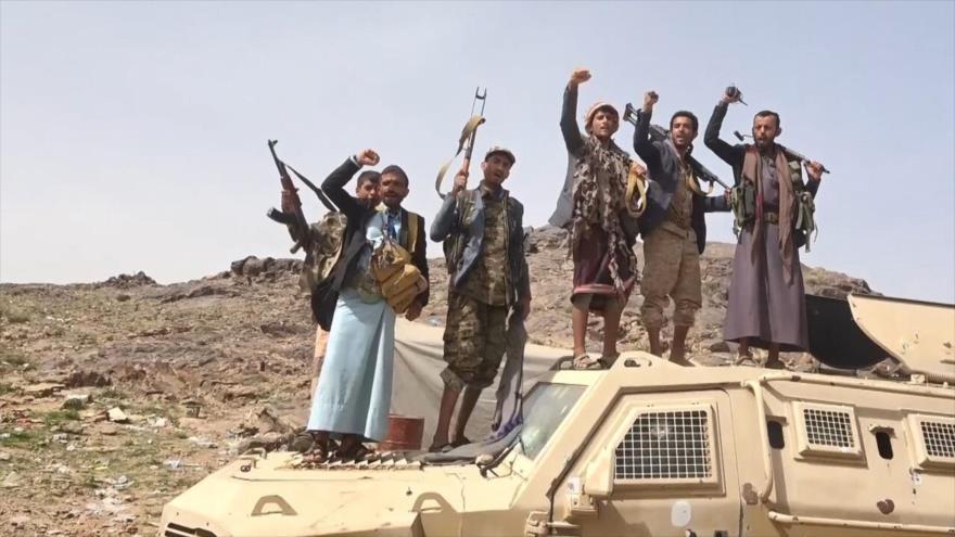 Las fuerzas populares yemeníes tras una operación en la ciudad de Marib.