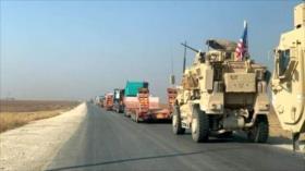 Vean en imágenes cómo convoy ilegal de EEUU entra en Siria