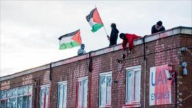 Vídeo: Activistas ocupan la fábrica israelí de armas en Londres