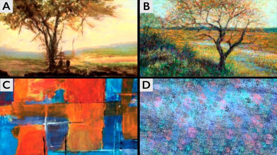 Pinturas creadas por inteligencia artificial.