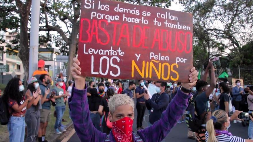 Jóvenes encabezan protestas en Panamá por caso de albergues   HISPANTV