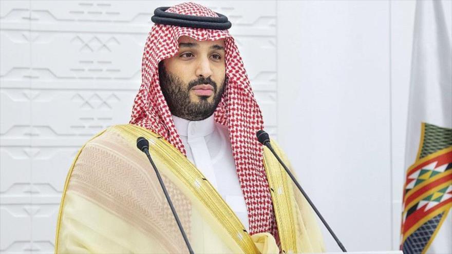 El príncipe heredero de Arabia Saudí, Muhamad bin Salman, en un acto en Riad, 22 de noviembre de 2020.