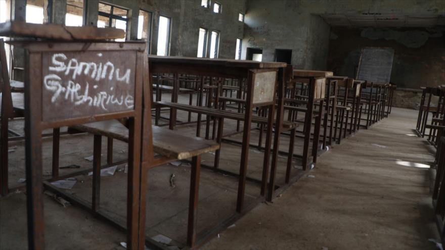 Una clase vacía en Kagara, Nigeria, tras el ataque de un grupo terrorista, 18 de febrero de 2021. (Foto: AFP)