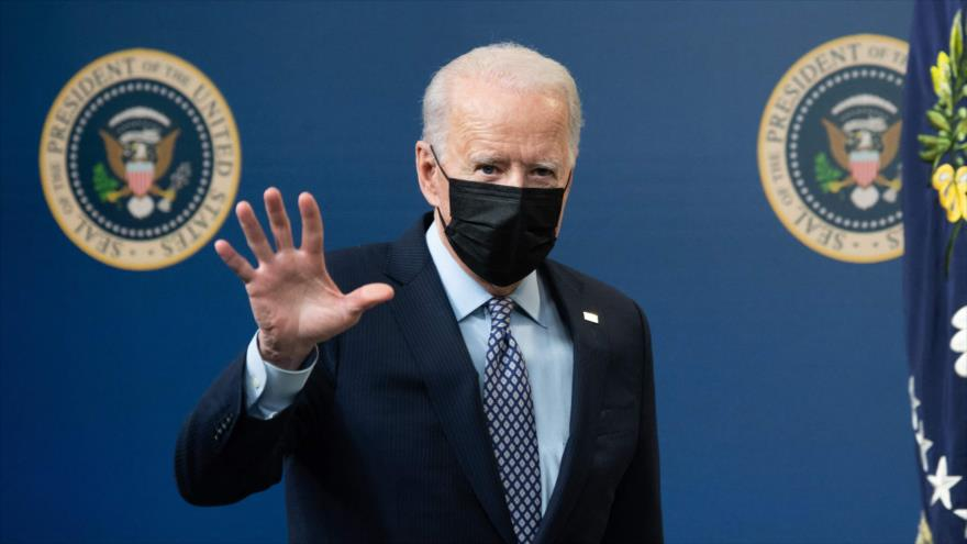El presidente de EE.UU., Joe Biden, durante un evento en Washington, 25 de febrero de 2021. (Foto: AFP)