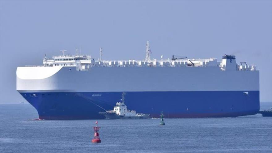 El barco de carga de vehículos Helios Ray, de propiedad israelí. (Foto: MarineTraffic.com)