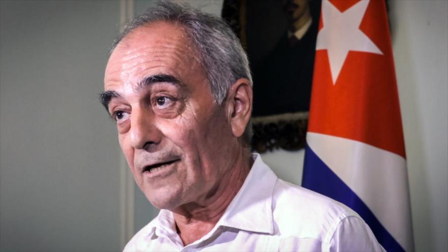 El embajador de la Unión Europea (UE) en Cuba, Alberto Navarro, durante una conferencia de prensa en La Habana, 16 de abril de 2019. (Foto: AFP)