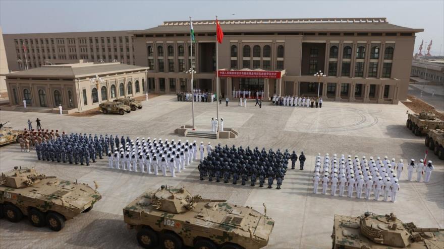 Una base militar de China en Yibuti, en África.