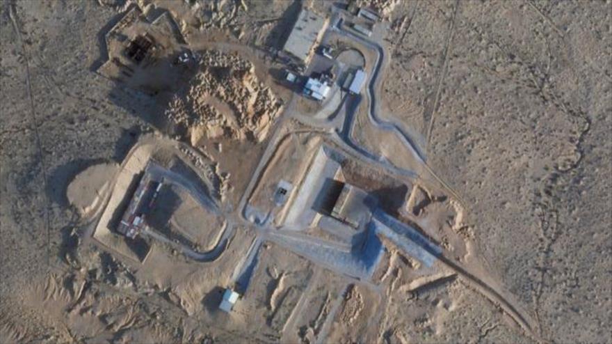 Foto satelital del centro nuclear israelí de Dimona en los territorios ocupados.