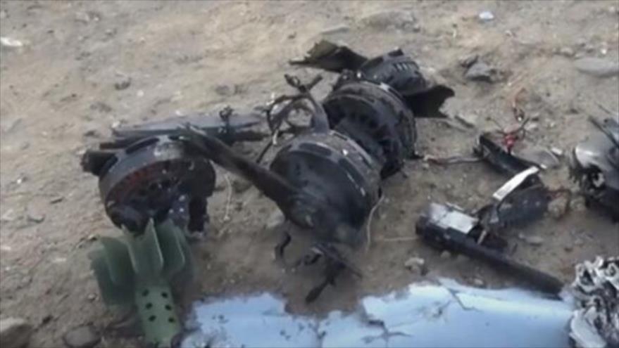 Fuerzas yemeníes derriban un dron espía saudí, cargado con bomba   HISPANTV