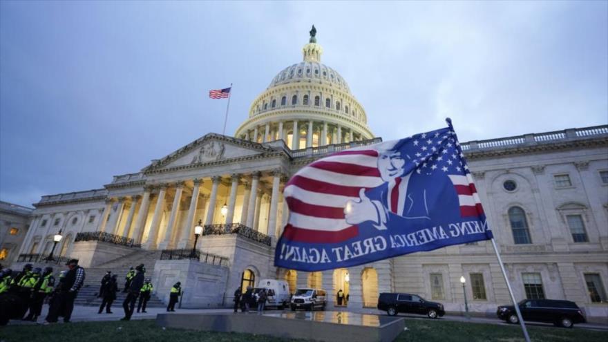 Policía en Washington refuerza la seguridad del Capitolio   HISPANTV