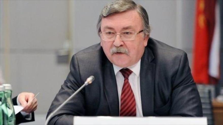 El representante permanente de Rusia ante las organizaciones internacionales radicadas en Viena (capital de Austria), Mijaíl Uliánov.