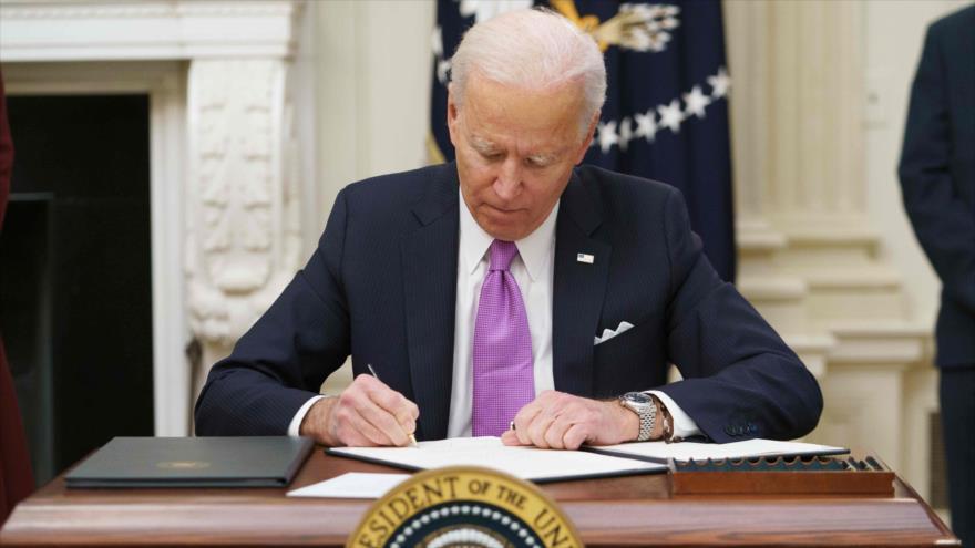 El presidente de EE.UU., Joe Biden, en la Casa Banca, Washington D.C., la capital, 21 de enero de 2021. (Foto: AFP)