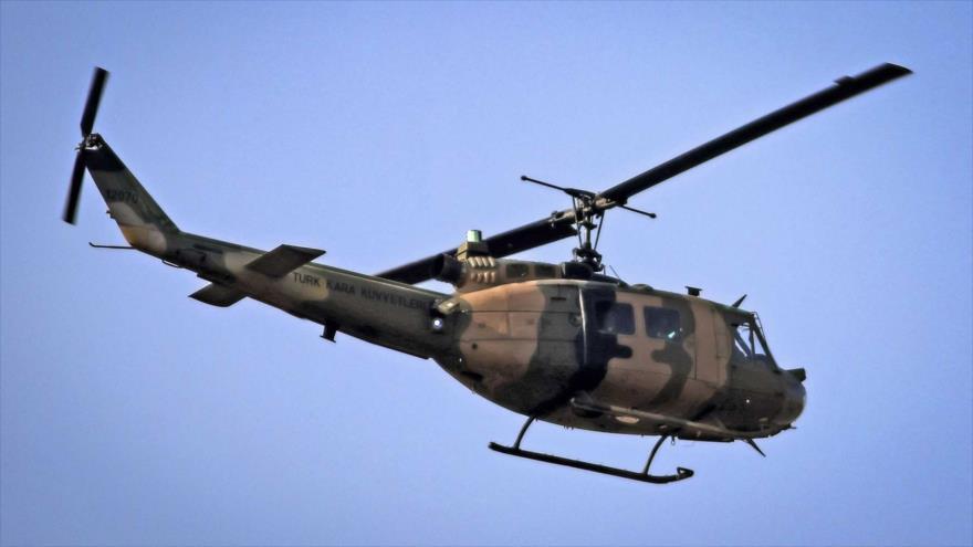 Un helicóptero militar del Ejército de Turquía.