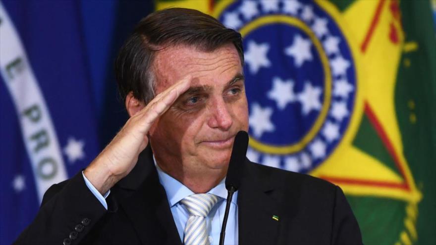 El presidente de Brasil, Jair Bolsonaro, en Brasilia, capital, 24 de febrero de 2021. (Foto: AFP)