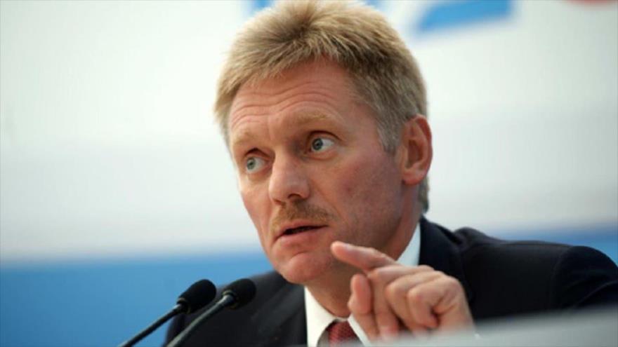 El portavoz de Rusia, Dimitri Peskov, en una conferencia.