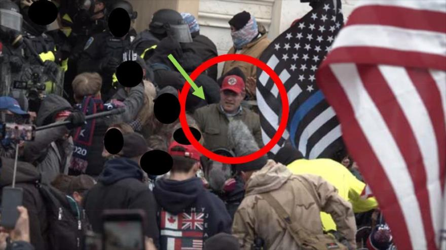Imagen captada revela la participación de Federico Klein en el asalto del Capitolio del pasado 6 de enero. (Foto: Departamento de Justicia de EE.UU.)