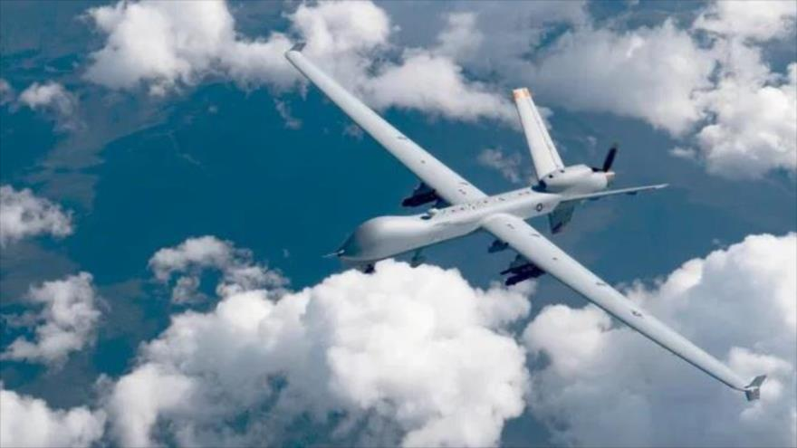 Un avión no tripulado estadounidense MQ-9 Reaper sobrevuela Alaska, 19 de junio de 2019.