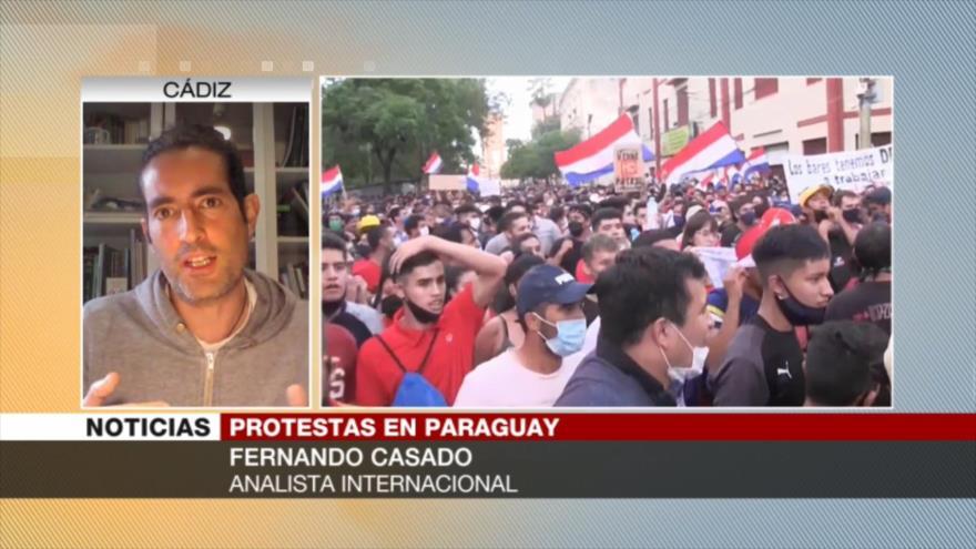 Casado: Hay problemas más graves detrás de protestas de Paraguay