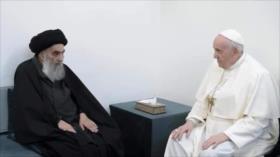 """Ayatolá Sistani mostró """"dignidad del Islam"""" en reunión con el papa"""